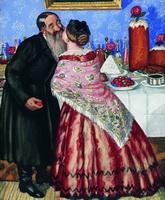 Пасхальный обряд (Христование) (Б.М. Кустодиев, 1916 г.)