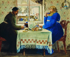 Извозчики (Б. Кустодиев, 1920 г.)