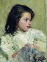 Голова девочки (Б. Кустодиев, 1897 г.)