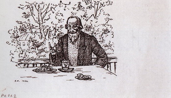 На балконе (Б. Кустодиев, 1922 г.)