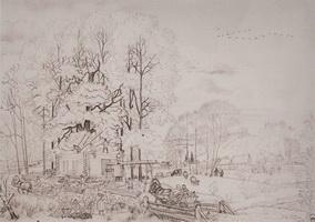 Осень (Б.М. Кустодиев, 1919 г.)