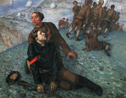 Смерть комиссара (К.С. Петров-Водкин)