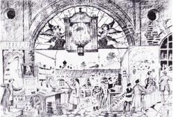 Гостинный двор (из альбома 14 автолиторгафий, 1921 г.)
