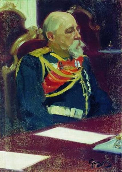 Портрет генерал-губернатора Финляндии Н.И. Бобрикова.