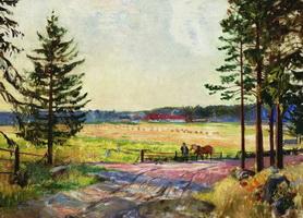 Пашня (Б.М. Кустодиев, 1917 г.)
