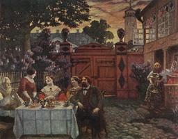 Чаепитие (Б.М. Кустодиев, 1913 г.)