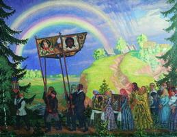 Крестный ход (Б. Кустодиев, 1915 г.)