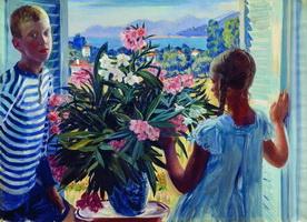 Дети художника (Б. Кустодиев, 1913 г.)