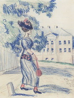 Молодая купчиха (Б. Кустодиев, 1914 г.)
