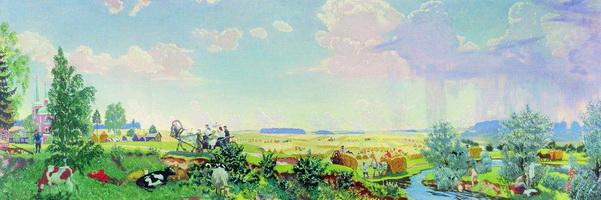 Лето - Поездка в Терем (Б. Кустодиев, 1918 г.)