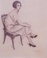 Портрет Евдокимовой (Б.М. Кустодиев, 1925 г.)