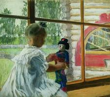 Японская кукла (Б.М. Кустодиев, 1908 г.)