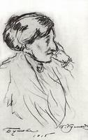 Портрет Н.С. Бутовой (Б.М. Кустодиев, 1915 г.)