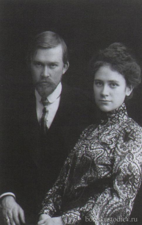 Фотография Кустодиев с женой