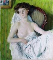 Портрет дамы. Модель (Б.М. Кустодиев, 1908 г.)