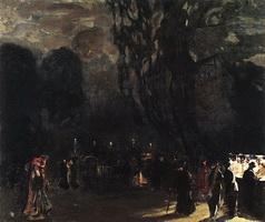 Ночной Париж (Б. Кустодиев, 1909 г.)