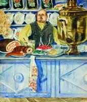 Трактирщик (Б.М. Кустодиев, 1920 г.)