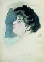 Портрет неизвестной (Б.М. Кустодиев, 1906 г.)