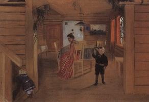 В комнатах (Б. Кустодиев, 1906 г.)