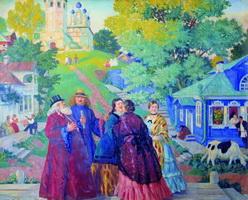 Встреча (Б. Кустодиев, 1917 г.)