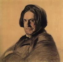 Портрет певца И.В. Ершова (Б.М. Кустодиев, 1905 г.)