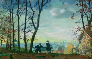 Вид с Воробьевых гор (Б. Кустодиев, 1919 г.)