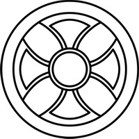 Символ бога Солнца Ашшура в Ассирии