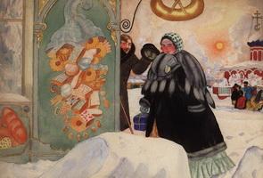 Встреча на углу (Б. Кустодиев, 1920 г.)
