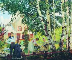 В Тереме (Б. Кустодиев, 1914-1918 гг.)