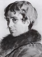 Портрет Ю.Е. Кустодиевой (Б.М. Кустодиев, 1925 г.)