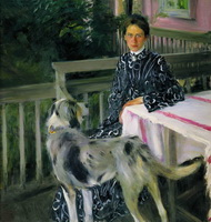 Портрет Ю.Е.Кустодиевой (Б.М. Кустодиев, 1903 г.)