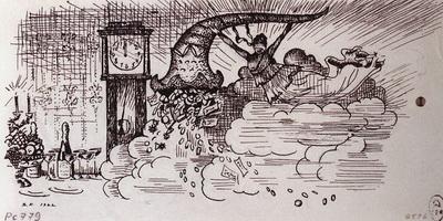 Фортуна с рогом изобилия - Концовка (Б.М. Кустодиев, 1922 г.)