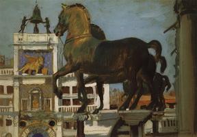 Кони Св.Марка. Венеция (Б. Кустодиев, 1907 г.)