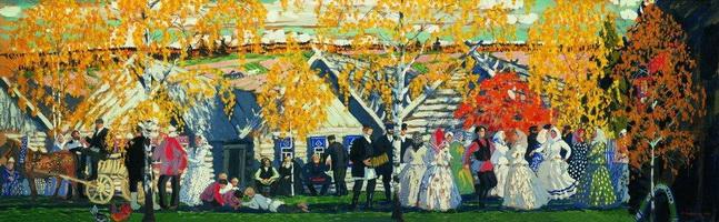 Деревенский праздник (Б. Кустодиев, 1910 г.)