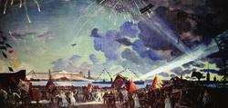 Ночной праздник на Неве (Б. Кустодиев, 1923 г.)
