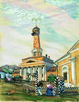 Площадь в Крутогорске (Б.М. Кустодиев, 1915 г.)