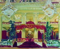 Зал Дворянского собрания в Петербурге (Б. Кустодиев, 1913 г.)