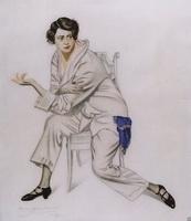 Портрет артистки Надежды Ивановны Комаровской (Б.М. Кустодиев, 1925 г.)