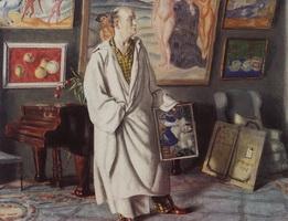 Портрет Ф.Ф. Нотгафта - Коллекционер (Б.М. Кустодиев, 1918 г.)