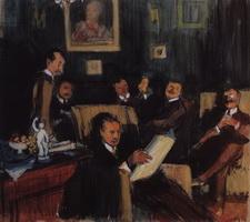Групповой портрет художников Мира искусства (Б. Кустодиев, 1910 г.)