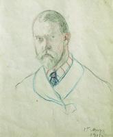 Автопортрет (Б. Кустодиев, 1911 г.)