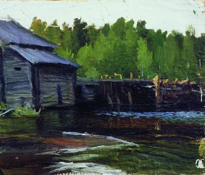 Павловская мельница на реке Яхруст.