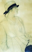 Портрет Шишановской (Б.М. Кустодиев, 1921 г.)