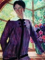Портрет Ю.Е. Кустодиевой (Б.М. Кустодиев, 1915 г.)