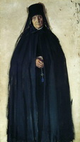 Монахиня (Б. Кустодиев, 1908 г.)