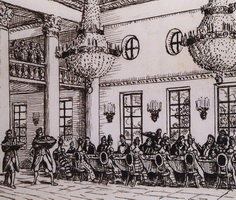 Обед у Троекурова (Б.М. Кустодиев, 1919 г.)