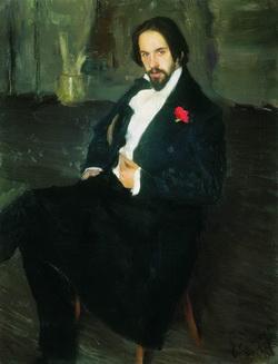Портрет И.Я. Билибина (Б. Кустодиев, 1901 г.)