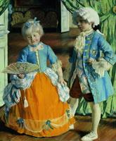 Дети в маскарадных костюмах (Б. Кустодиев, 1909 г.)