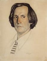 Портрет артиста И.В. Ершова (Б.М. Кустодиев, 1922 г.)