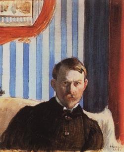 Автопортрет (Б. Кустодиев, 1910 г.)